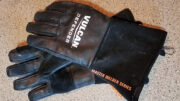 A pair of welding gloves, which make the best oven mitts